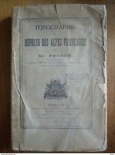 Militaire Armée Col Perrin 1894 Topographie Défense Alpes françaises 9 cartes
