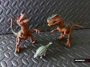 3x Dinosaur Deinonychus Tyrannosaurus Rex Action Figure Toys Jurassic Park T Rex