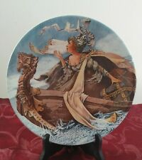 """Collector Plate Vintage """"The Knight's Tale'"""" The Longton Crown Pottery 1982"""