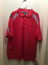 Mens Ben Hogan Performance Golf Shirt Size 2Xl Red/gray