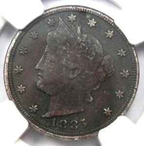 1885 Liberty Nickel 5C - NGC VF Details - Rare Key Date Certified Coin!
