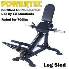 POWERTEC Compact Leg Sled P-CLS16 Press Hack Squat Home Gym Fitness