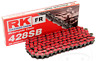 RK Standard Motorcycle Drive Chain 428 SB / 132L Red with Spring Link