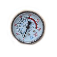 0-180PSI Air Compressor Pneumatic Hydraulic Fluid Pressure Gauge 0-12Bar  FLA