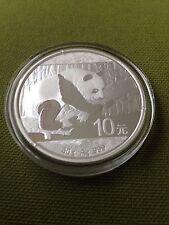 2016 China 10 Yuan 30 gram Silver Panda Coin In Original Mint Cap