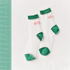 New Women Transparent Socks Harajuku Striped Crystal Socks Japan Glass Silk Sock