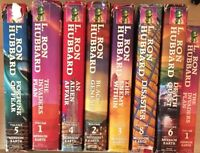Lot 8 Vintage L. Ron Hubbard Books Science Fiction Mission Earth Series