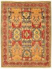 """Vintage Hand-Knotted Carpet 4'11"""" x 6'7"""" Traditional Oriental Wool Area Rug"""