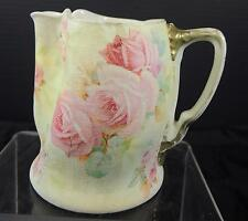 """Antique Royal Bayreuth Rose Tapestry Pinch Spout Pitcher - 4 1/4"""" Tall"""