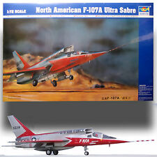 TRUMPETER 1/72 NORTH AMERICAN F-107A ULTRA SABRE KIT 01605