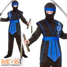 Samurai Ninja Boys Fancy Dress National Japanese Warrior Kids Halloween Costume