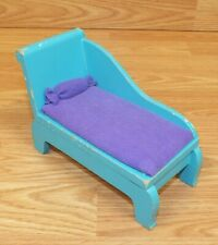 Unbranded Vintage Style Teal & Purple Doll Size Wooden Day Bed Only *Read*