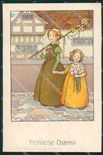 Sowerby Dutch Children Easter Dondorf serie 154 postcard cartolina QT6178