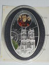 Niue 1 dollar 2010 Gothic Westminster Abbey London  Silver mint.5000  COA