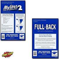 50 Mylites2 STANDARD Mylars Sleeves & Full Back 42pt Boards 725M2/700FB E.Gerber