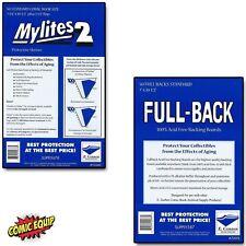 50 - MYLITES 2 STANDARD sleeves & 50 - FULL-BACK STANDARD Boards