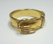 HERMES goldtone belt shape scarf ring Made in France