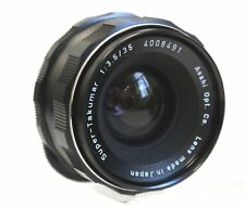 ASAHI PENTAX Super-Takumar 35mm f/3.5 M42 Mount Camera Lens w/ Case - N42