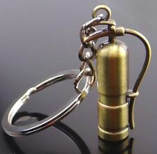 Creative Retro Fire Extinguisher Keyring Metal Alloy Keychain Key Chain Ring ♫
