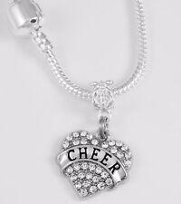 Cheer Necklace Cheerleader Team Cheer jewelry gift