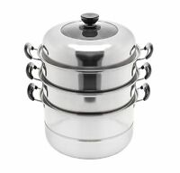 CONCORD 3 Tier Stainless Steel Steamer Cookware Steam Pot. Avail in 5 Sizes