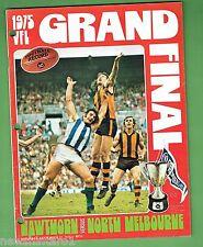 #T43. 1975 VFL GRANDFINAL AUST. RULES FOOTBALL PROG., HAWTHORN V NORTH MELBOURNE