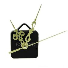 Gold Hands Quartz Clock Movement Mechanism DIY Replace Repair Parts Kit
