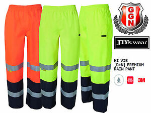 JBS RAIN PANT WORK HI VIS Safety Wear DAY AND NIGHT WITH REFLECTIVE TAPE 6DPRP