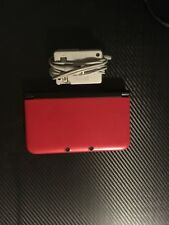 Red Nintendo 3DS XL With Charger and 4GB SD Card