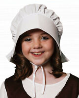 Child Children Girls Boys Victorian Bonnet Hat Fancy Dress Party Wear