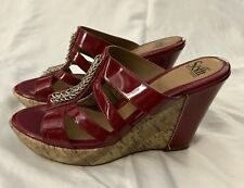 **NEW**  Söfft Sandals/Wedges, Burgandy/Red, cork heel, Size 10