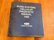 1992 Ford Truck Car Oem Dealer Radio Sound System Troubleshooting Manual