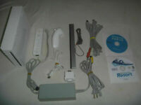 Nintendo Wii White System Console Complete With Wii Sports & Wii Sports Resort