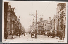 Postcard Southampton Hampshire early animated High Street old RP by Rotary Photo