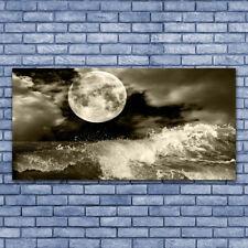 Tableau Impression Image sur Plexiglas® 140x70 Paysage Nuit Lune