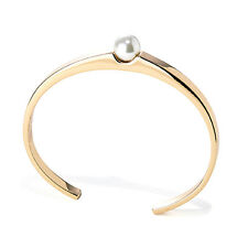 NEW JENNY BIRD Rose Gold Blanchett Pearl Cuff Bangle Bracelet -SALE