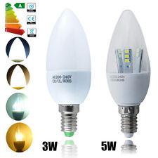 12/6er-PACK E14  LED Kerzenlampe Licht 3W 5W Leuchtmittel Glühbirne Leuchte SES