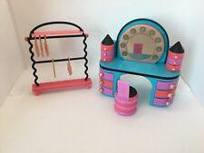 Lol Surprise Doll Vanity / Desk Hangers Clothes Rack Doll House Furniture Set
