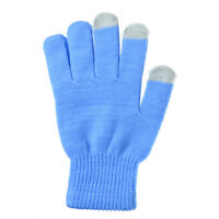 Unisex Winter Knit Touch Screen Gloves Smart Phone Tablet Full Finger Mittens cn