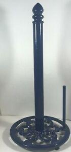 Blue Metal Trivet Base Paper Towel Dispenser