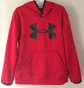 UNDER ARMOUR Kids Bright Red Pullover Hoodie~~Size 6