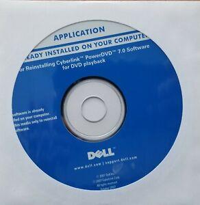 Brand New Genuine Dell Cyberlink PowerDVD 7.0 for DVD playback P/N 0WU803