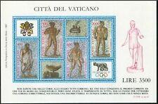 Vatican 792 ad sheet,MNH.Michel 920-923 Bl.9. OLYMPEX-1987.Ancient Mosaic.