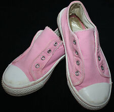 Pretty Target Size 12 Girl's Pink Laceless Trainers Sneakers