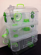 Acrylic 3-Solid Floors Hamster Rodent Gerbil Mouse Mice Rat House Habitat Cage
