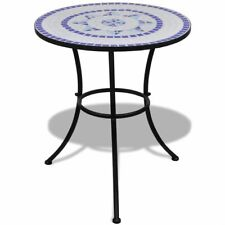 vidaXL 41530 60cm Mosaic Table - Blue/White