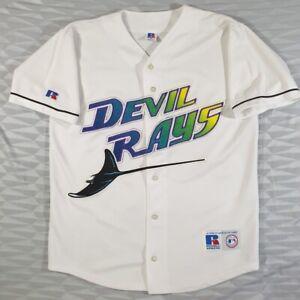Vintage Devil Rays Baseball Russell Jersey SizeM