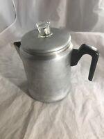 Vintage EUC Century Aluminum  6-8 Cup Stove Grill Top Coffee Percolator Pot USA