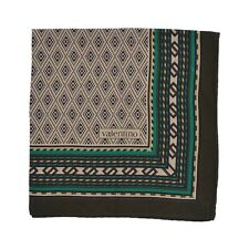 Valentino Einstecktuch Pocket Square Seide Silk Aztec-Inspired Made in Italy SEE
