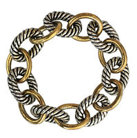 """Designer Inspired 925 Sterling Silver Large Oval Link Bracelet 17mm Lengh 7.5"""""""